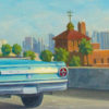 "American Legacy Fine Arts presents ""Blue Falcon"" a painting by Tony Peters."