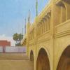 "American Legacy Fine Arts presents ""Viaduct Bridge; LA River"" a painting by Tony Peters."