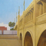 "American Legacy Fine Arts presents ""Viaduct Bridge; LA River"" a painting by Tony Peters."