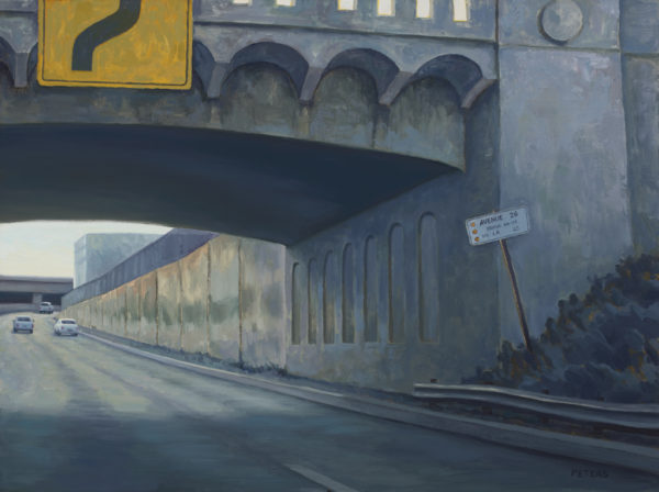 "American Legacy Fine Arts presents ""110 Freeway Bridge"" a painting by Tony Peters."