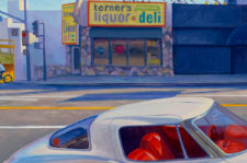 "American Legacy Fine Arts presents ""Corvette on Sunset"" a painting by Tony Peters."