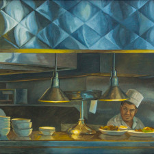 "American Legacy Fine Arts presents ""Another Order, Dinah's"" a painting by Tony Peters."