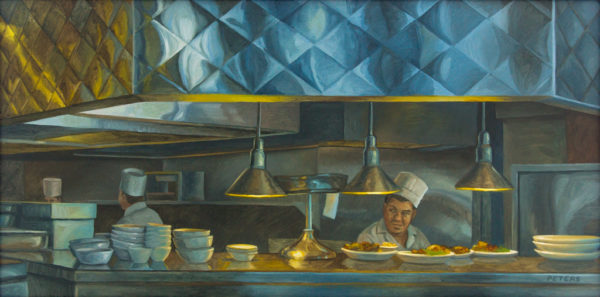 """American Legacy Fine Arts presents """"Another Order, Dinah's"""" a painting by Tony Peters."""