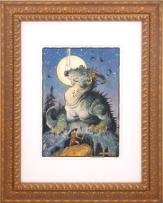 "American Legacy Fine Arts presents ""Siegfried and Fafnir"" a painting by William Stout"