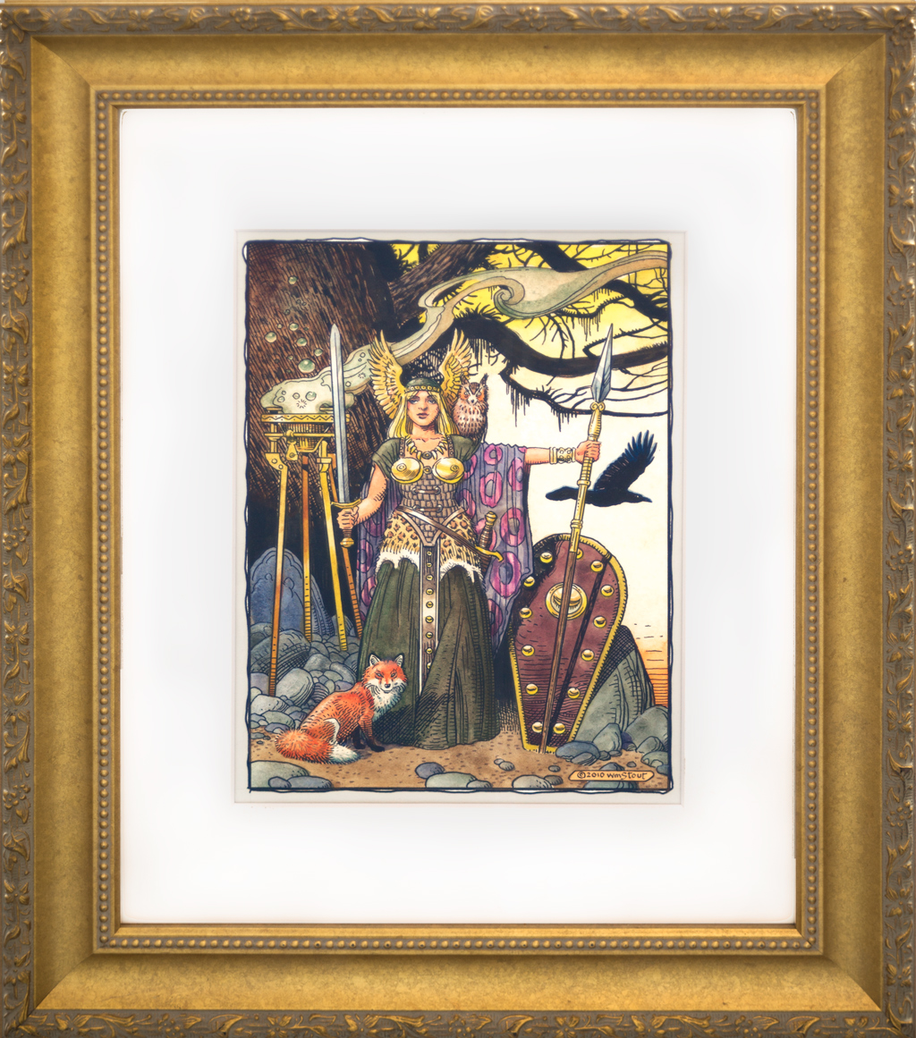 """American Legacy Fine Arts presents """"Brunhilde"""" a painting by William Stout."""