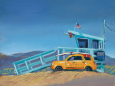 "American Legacy Fine Arts presents ""Station Aerie"" a painting by William Stout."