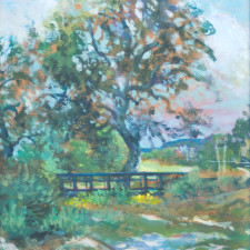 "American Legacy Fine Arts presents ""Dry Gully Bridge"" a painting by William Stout."