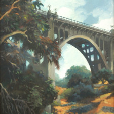 "American Legacy Fine Arts presents ""Colorado Street Bridge"" a painting by Wiliam Stout."