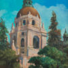"American Legacy Fine Arts presents ""Pasadena City Hall"" a painting by William Stout."