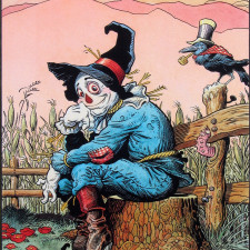 "American Legacy Fine Arts presents ""Scarecrow of OZ"" a painting by William Stout."