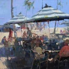 "American Legacy Fine Arts presents ""After Lunch"" a painting by Jove Wang."