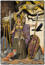 "American Legacy Fine Arts presents ""Brunhilde"" a painting by Williams Stout"