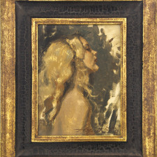 """American Legacy Fine Arts presents """"Gold"""" a painting by Alexey Steele."""