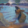 "American Legacy Fine Arts presents ""Wind and Sand at Leo Carrillo Beach"" a painting by Alexey Steele."