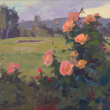 "American Legacy Fine Arts presents ""Evening Roses in Los Angeles"" a painting by Alexey Steele."