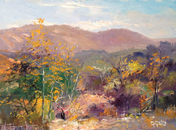 "American Legacy Fine Arts presents ""Late Fall off Mullholland Drive"" a painting by George Gallo."