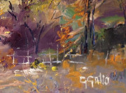 """(SIGNATURE) George Gallo - Late Fall off of Mulholland Drive, Oil on canvas 18"""" x 24"""""""