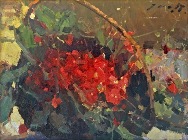 American Legacy Fine Arts presents Summer Berries a painting by Jove Wang.