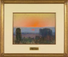 "American Legacy Fine Arts presents ""Trees at Dusk"" a painting by Theodore N. Lukits (1897-1992)."