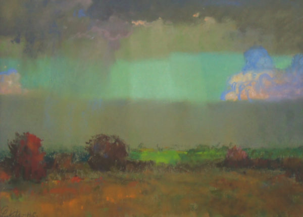 "American Legacy Fine Arts presents ""California Stormy Sky"" a painting by Theodore N. Lukits."
