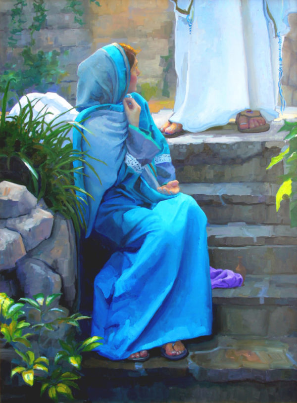 """American Legacy Fine Arts presents """"""""Mary."""" - Moment of Recognition"""" a painting by Peter Adams."""