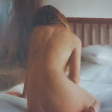 """American Legacy Fine Arts presents """"Untitled Nude"""" a painting by Ryan Wurmser."""