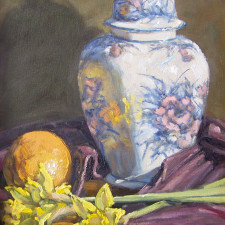 "American Legacy Fine Arts presents ""Citrus Flowers and Ginger"" a painting by Scott W. Prior"