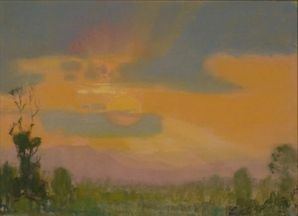 "American Legacy Fine Arts presents, ""The Last Rays"" a painting by Theodore N. Lukits."