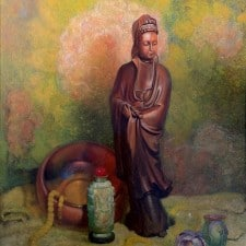 "American Legacy Fine Arts presents ""Meditation"", c, 1944, a painting by Theodore N. Lukits (1897-1992)"
