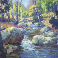 "American Legacy Fine Arts presents ""The Brook"" a painting by Maurice Braun (1877-1941)."