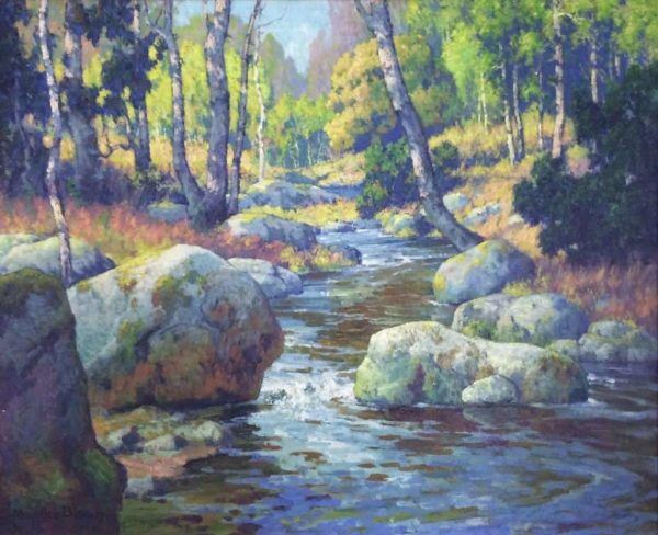"""American Legacy Fine Arts presents """"The Brook"""" a painting by Maurice Braun (1877-1941)."""