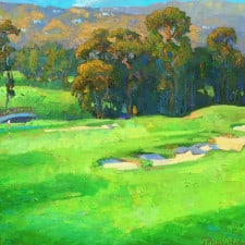 "American Legacy Fine Arts presents ""Eucalyptus Grove in the Afternoon"" a painting by Peter Adams."
