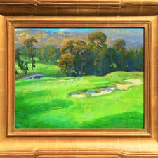 """American Legacy Fine Arts presents """"Eucalyptus Grove in the Afternoon"""" a painting by Peter Adams."""