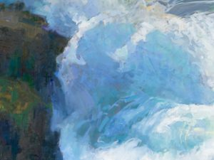 """American Legacy Fine Arts presents """"Peace in the Midst of Peril, Mendocino, California"""" a painting by Peter Adams"""