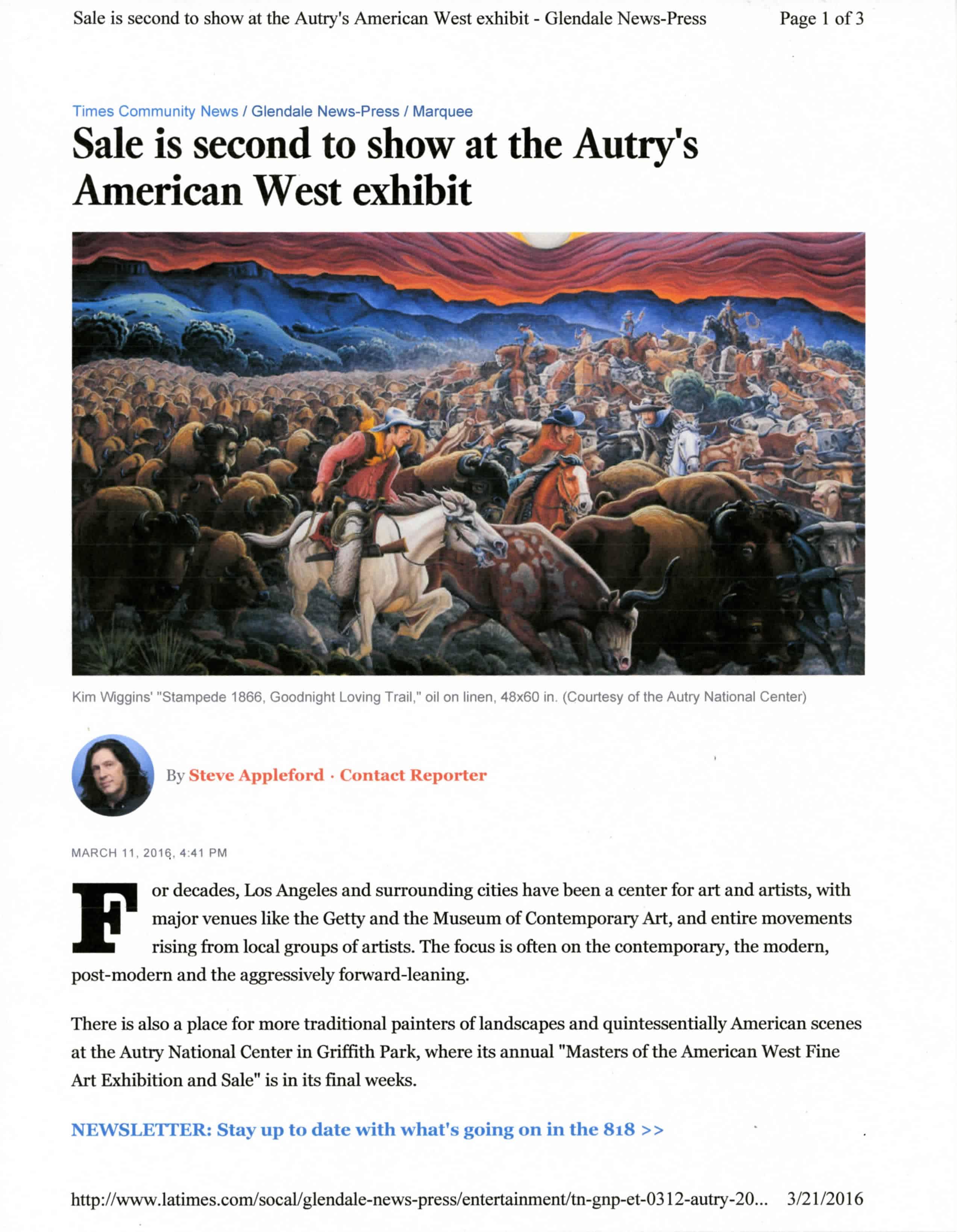 Peter Adams Glendale News-Press March 11, 2016 – American