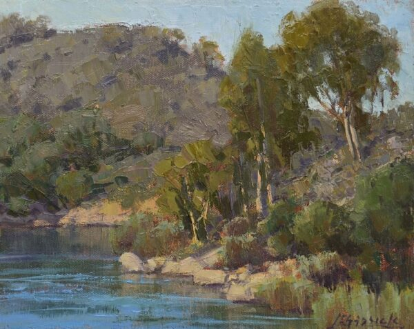 "American Legacy Fine Arts presents ""At Dixon Lake"" a painting by Jean LeGassick."