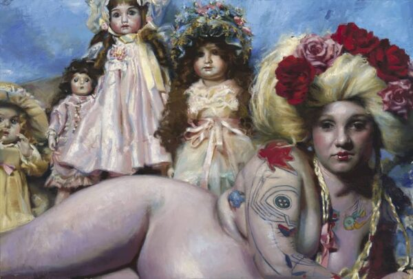 "American Legacy Fine Arts presents ""Carousel"" a painting by Teresa Oaxaca."