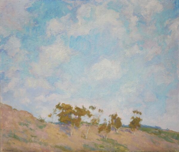 "American Legacy Fine Arts presents ""Bara's Hill, Portuguese Bend"" a painting by Amy Sidrane"