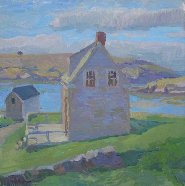 "American Legacy Fine Arts presents ""Early American Beginnings - Monhegan Island"" a painting by Daniel W. Pinkham."