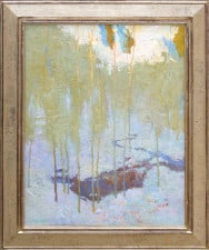 "American Legacy Fine Arts presents ""Snow Poem, 4"" a painting by Daniel W. Pinkham."