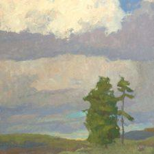 "American Legacy Fine Arts presents ""Clearing Storm; Mt. Shasta"" a painting by Daniel W. Pinkham."