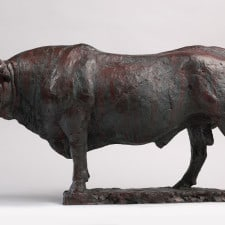 "American Legacy Fine Arts presents ""Bull of Bordeux"" a sculpture by Peter Brooke."