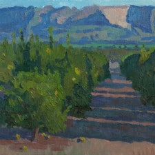 "American Legacy Fine Arts presents ""Fillmore Orange Groves"" a painting by Eric Merrell."