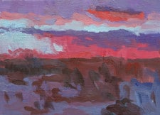 "American Legacy Fine Arts presents ""The Hush of a Desert Sunset"" a painting by Eric Merrell."