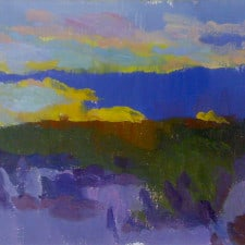"American Legacy Fine Arts presents ""The Sound of a Desert Sunset"" a painting by Eric Merrell."