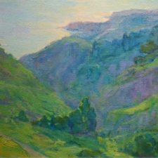 "American Legacy Fine Arts presents ""Canyon Light Rolling Hills"" a painting by Amy Sidrane."