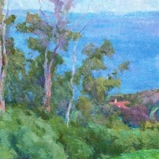 "American Legacy Fine Arts presents ""St. Francis, Palos Verdes"" a painting by Amy Sidrane."