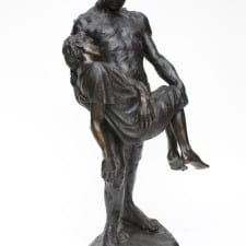 "American Legacy Fine Arts presents ""The Illustrated Man; Fr. Electrico"" a sculpture by Christopher Slatoff."