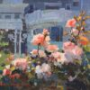 """American Legacy Fine Arts presents """"George Thomas Roses at the Club"""" a painting by Calvin Liang."""