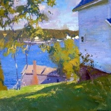 "American Legacy Fine Arts presents "" Both Bay, Maine' a painting by Daniel W. Pinkham."
